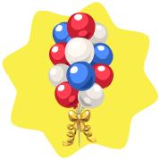 New year 2011 balloons