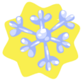 Blue cluster snowflake