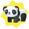 Carnival panda toy ride