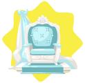 Blue elegant throne