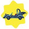 Gothic bat car