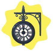Railway vintage clock
