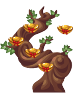 Chinese Chocolate Ingot Tree