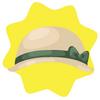 Vintage lady cream cloche hat