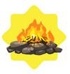 Stone bonfire
