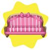 Valentine pink ribbon sofa