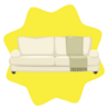 Elegant cream sofa