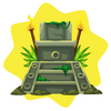 Grand mayan throne