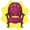 Purple regal chair