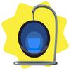 Blue bubble chair