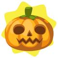 Round scarecrow pumpkin head