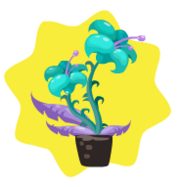 Homegrown aqua thistle
