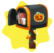 Luminous sweet halloween mailbox