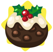 Plum pudding ornament