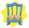 Blue wooden country chair