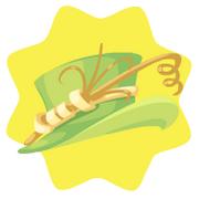 Twirl lime hat