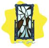 Broken standing mirror