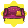 Purple regal sofa