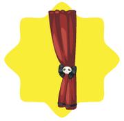 Halloween skull curtain