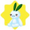 Snow rabbit plushie