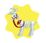 Skeleton Reindeer Seat