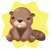 Brown beaver plushie