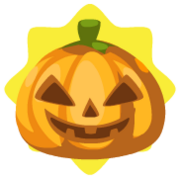 Triangular scarecrow pumpkin head