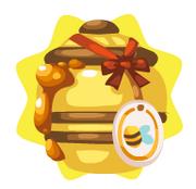 Homegrown honey pot