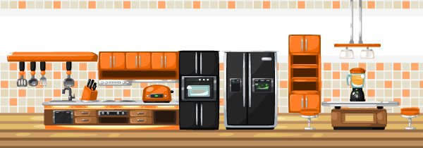 Dreamy kitchen set