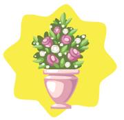 Romantic castle flower decor