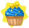 Yellow ribbon cupcake