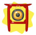 Red Festive Gong