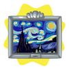 Starry night painting