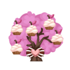 Cupcake berry tree