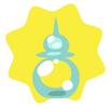 Blue bubble potion
