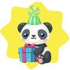 Wwf panda with present