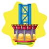 Carnival tower drop ride
