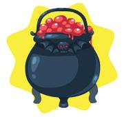 Witches blood cauldron