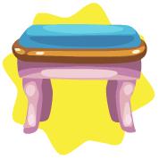 Rapunzel vanity seat