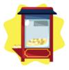 Vintage popcorn machine