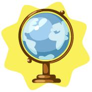 Travel Globe Decor