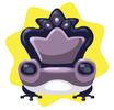 Frog prince dark armchair