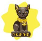 Sacred cat statue