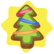 Tinsel tree ornament