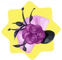 Purple rose bonnet