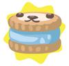 Light blue petling biscuit