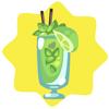 Mint jupet cocktail