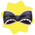 Black gothic maid bow