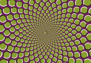 Motion illusion in star arrangement