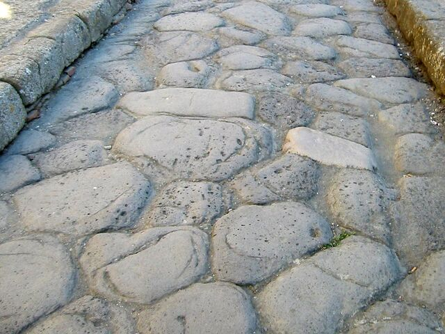 File:Roman Road Surface at Herculaneum.jpg